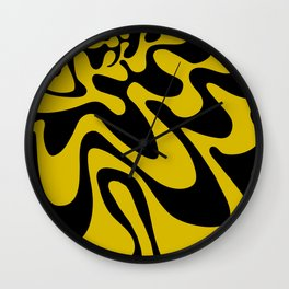 Swirly Whirly: Abstract Pop Art Painting by Bruce Gray Wall Clock