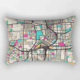 Colorful City Maps: Atlanta, Georgia Rectangular Pillow