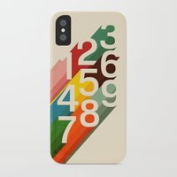 budi iPhone & iPod Cases featuring Retro Numbers by Picomodi