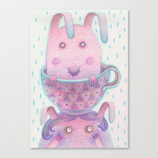 Head in a cup Canvas Print