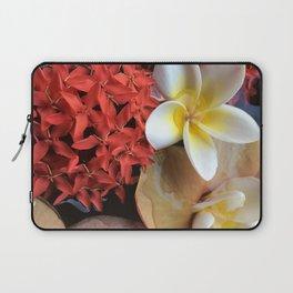 Frangipani & Ixora Laptop Sleeve