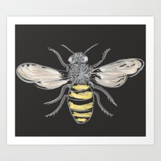 Beneficial Bumblebees Art Print