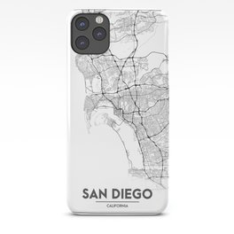 Minimal City Maps - Map Of San Diego, California, United States iPhone Case