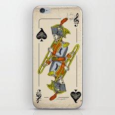 musical poker / trombone iPhone & iPod Skin