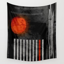 orange wants to be black Wall Tapestry