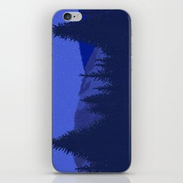 Conifers and Night Sky iPhone Skin