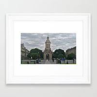 college Framed Art Prints featuring Trinity College by Stephany Forsythe