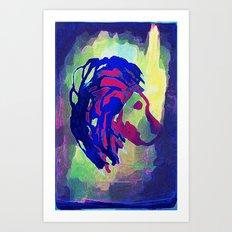 PRIMITIVE LION - 014 Art Print