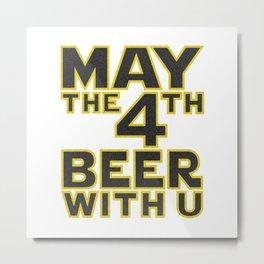 funny beer Metal Print