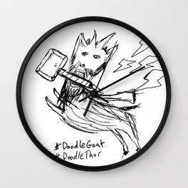 DoodleThor, Goat of Thunder Wall Clock