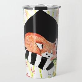 cute Firefox - red panda, nature, asia animal Travel Mug