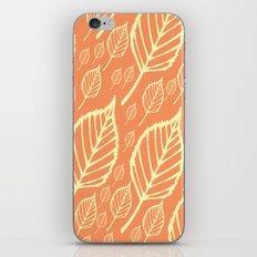Orange Autumn Leaf Design  iPhone & iPod Skin