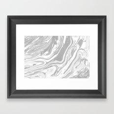 Marble - Grey Wash Framed Art Print