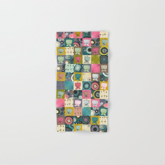 blooms patchwork Hand & Bath Towel