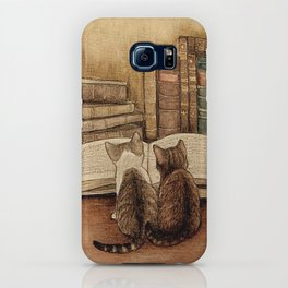 Kittens Reading A Book iPhone Case