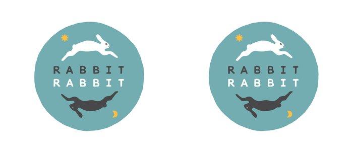 Rabbit Rabbit Day and Night Illustration Coffee Mug