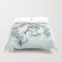 olivia joy Duvet Covers featuring Olivia by Quill