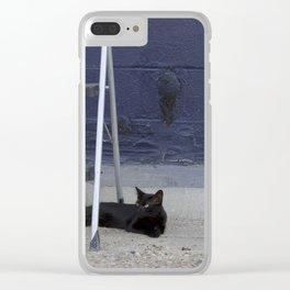 My Black Cat Clear iPhone Case