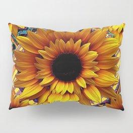 AWESOME GOLDEN SUNFLOWERS  PATTERN ART Pillow Sham