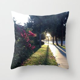 The Light At The End Of The Sidewalk I Throw Pillow