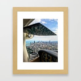 Bob's Bird (Chicago Skyline) Framed Art Print
