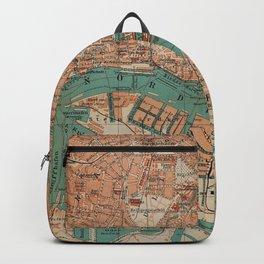 Vintage Map of Hamburg Germany (1910) 2 Backpack