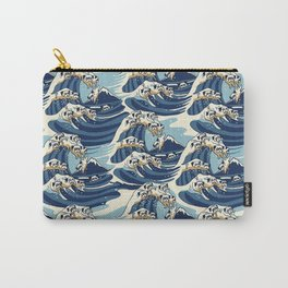 The Great Wave of Pug Pattern Carry-All Pouch