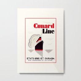 Cunard Line art deco style Metal Print