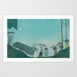 Parade two Art Print