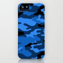 Blue Camouflage iPhone Case