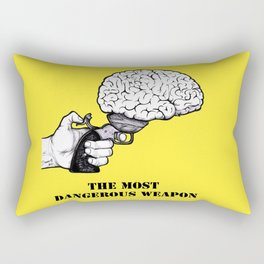 THE MOST DANGEROUS WEAPON Rectangular Pillow