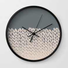 Half Knit Ombre Nat Wall Clock