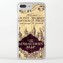 bown map Clear iPhone Case