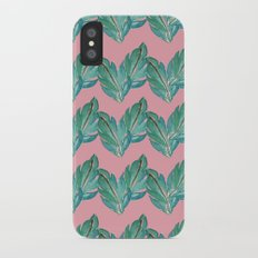 Watercolor Leaves iPhone X Slim Case