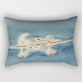 Avion bleu Rectangular Pillow