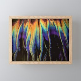 Rainbow Flames Framed Mini Art Print