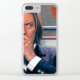 David Bowie The Space Oddity In A Suit Clear iPhone Case