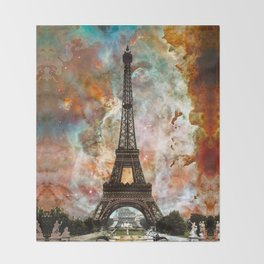 The Eiffel Tower - Paris France Art By Sharon Cummings Throw Blanket