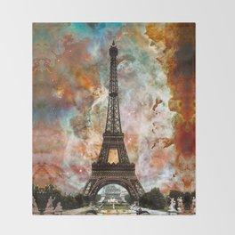 The Eiffel Tower - Paris France Art By Sharon Cummings Throw Blanket