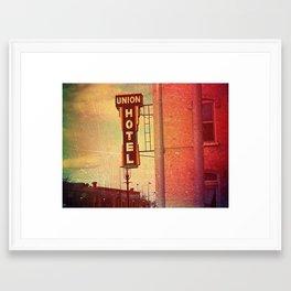 Union Hotel Framed Art Print
