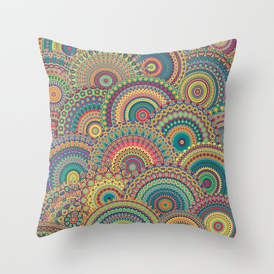 Millefiori Mandala Throw Pillow