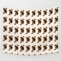 squirrel Wall Tapestries featuring Squirrel by Heaven7