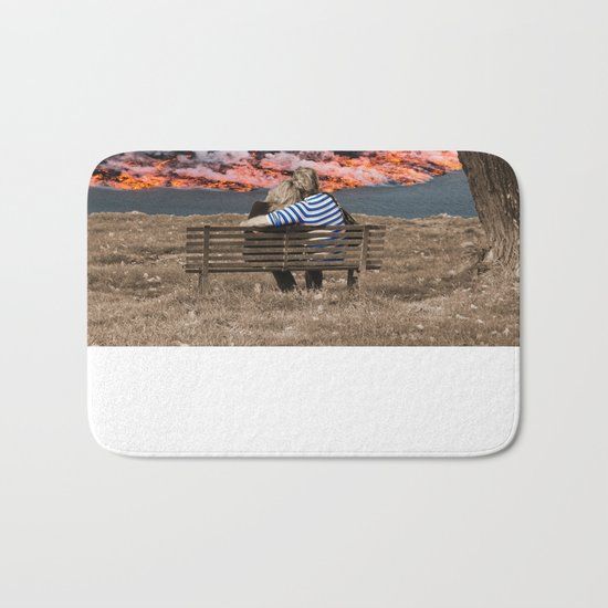 Volcano Eruption Bath Mat