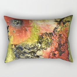 Tumultous Tear - Mixed Media Beeswax Encaustic Abstract Modern Fine Art, 2015 Rectangular Pillow