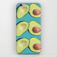 avocado iPhone & iPod Skins featuring Avocado by MagentaRose (UK)
