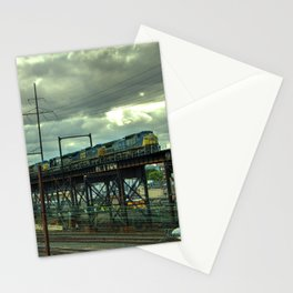 Philadelphia Skyline Freight Stationery Cards