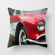 Red Corvette Throw Pillow