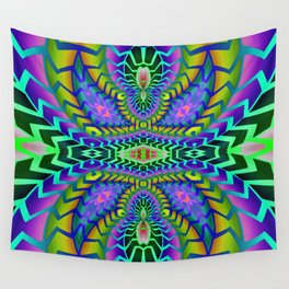 Tribal Rainbow Lotus Wall Tapestry