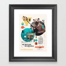 THE HUNTER Framed Art Print