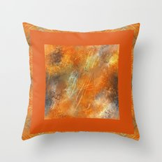 Orange Euphoria 2 Throw Pillow